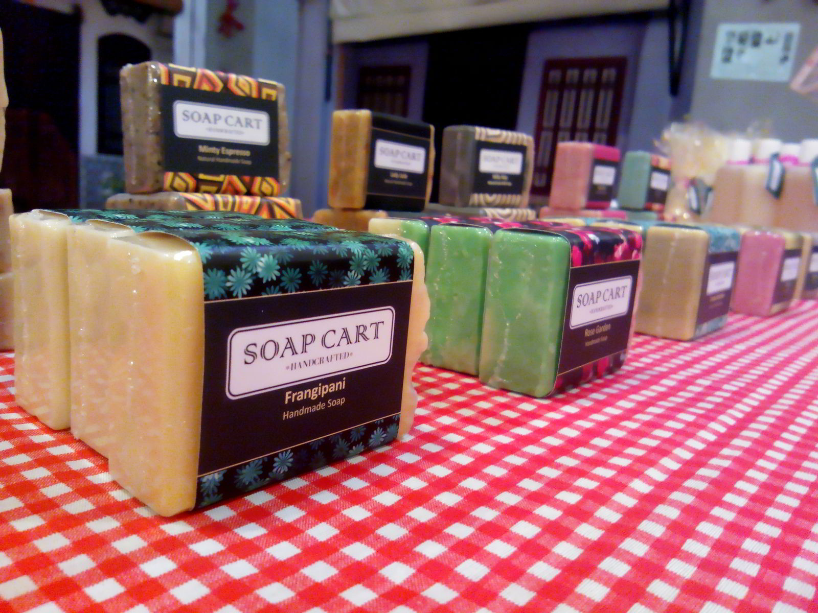 Soap Cart Booth Display