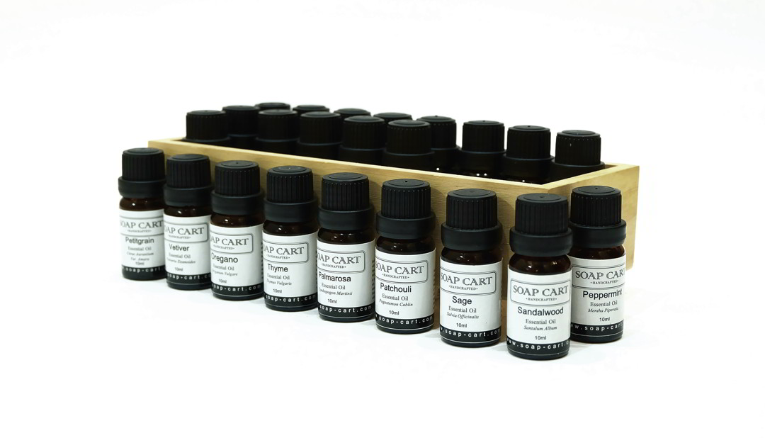 2018 Soap Cart Essential Oil Labels Box